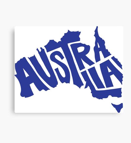Australia Typography Canvas Print
