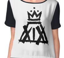 XIX Crown Print (White) Chiffon Top