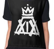 XIX Crown Print (Black) Chiffon Top
