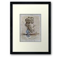 Claude Monet - A Hunter And His Dog On A Boat  Framed Print