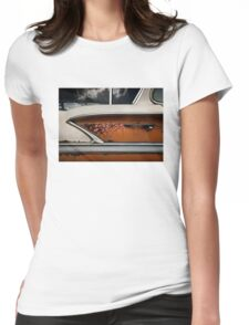 Abandoned 1958 Chevy Belair Womens Fitted T-Shirt