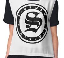 S Circle Print (White) Chiffon Top