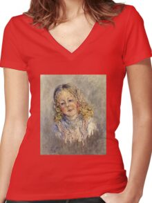Claude Monet - Andre Lauvray Women's Fitted V-Neck T-Shirt
