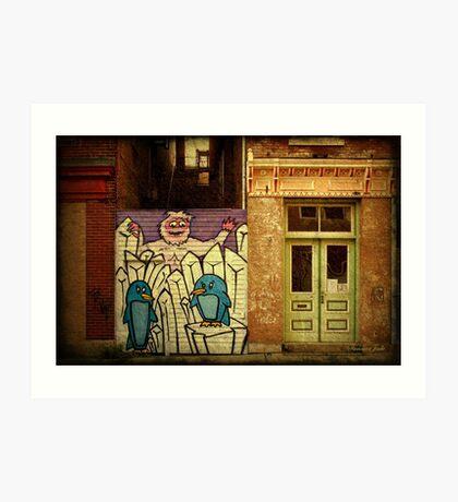 Hidden Door, Boarded Window Art Print