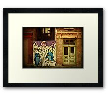Hidden Door, Boarded Window Framed Print