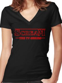 Scream The Tv Series Women's Fitted V-Neck T-Shirt