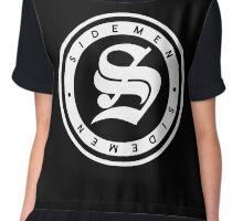 S Circle Print (Black) Chiffon Top