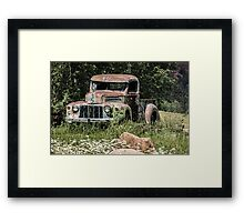 Yard Art Framed Print