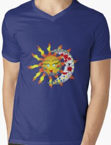 Sun & Moon Mens V-Neck T-Shirt
