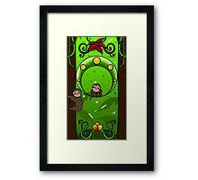 Chibi Nouveau Sloths Framed Print