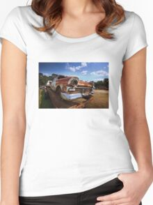Abandoned 1957 Ford Fairlane Women's Fitted Scoop T-Shirt