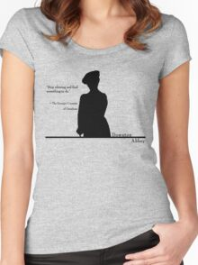 Stop whining and find something to do Women's Fitted Scoop T-Shirt
