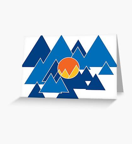 Mountain Geo Greeting Card