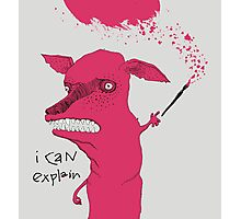 Bad Explanation Art Dog Photographic Print