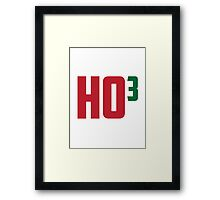 Ho Ho Ho Have A Very Nerdy Christmas Framed Print