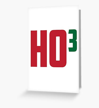 Ho Ho Ho Have A Very Nerdy Christmas Greeting Card