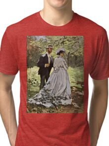 Claude Monet - Bazille And Camille 1865  Tri-blend T-Shirt