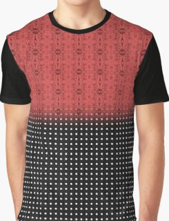 Red Tribal Black and White Polka Dot Graphic T-Shirt