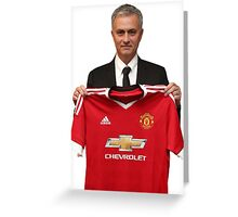 Jose Mourinho - Manchester United Greeting Card