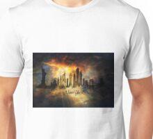 Sunset over new york city skyline Unisex T-Shirt