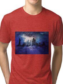 New York City at night Tri-blend T-Shirt