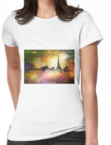 City skyline - Paris Womens Fitted T-Shirt