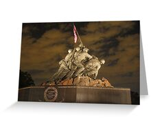 United States Marine War Memorial Greeting Card