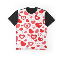 Love, Love, Love, Hearts, Hearts, Hearts Graphic T-Shirt