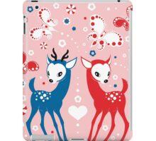 Cute Two Little Deer and Butterflies. iPad Case/Skin