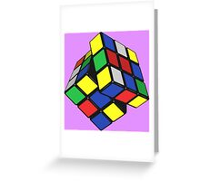 PUZZLE CUBE Greeting Card