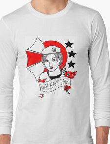 Valentine Girl - Red and Black Long Sleeve T-Shirt