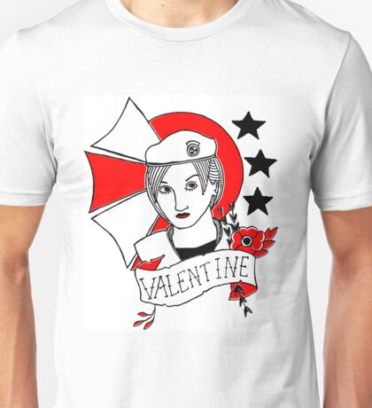 Valentine Girl - Red and Black Unisex T-Shirt