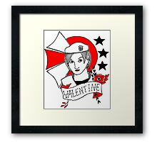 Valentine Girl - Red and Black Framed Print