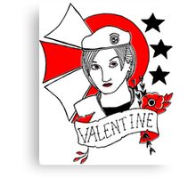 Valentine Girl - Red and Black Canvas Print
