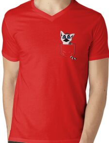 Chibi Lemur in my Pocket! Mens V-Neck T-Shirt