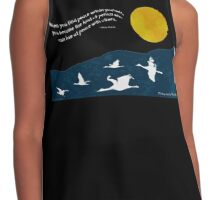Full Moon with Sandhill Cranes Contrast Tank
