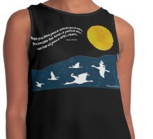 Full Moon with Sandhill Cranes (Comes with any quote or no text) Contrast Tank