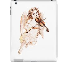 angel child,antique,statue,worn,old,rustic,beautiful,angel iPad Case/Skin