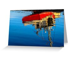 Reflection of a Fishing Boat Greeting Card