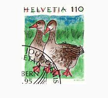 1995 Switzerland Geese Postage Stamp Unisex T-Shirt