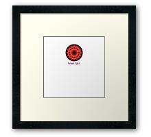 Heart Light Mandala Framed Print