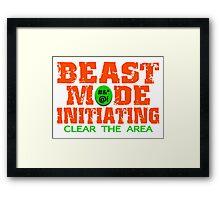 Beast Mode Initiating Framed Print