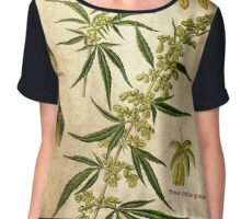 Marihuana plant Chiffon Top