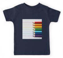 teacher's art,coloring pencils, colorful,digital photo,manipulated Kids Tee