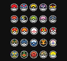 Pokemon Pokeball 8 Bit Sprites Unisex T-Shirt