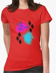 Stay Evil Doll Face Womens Fitted T-Shirt