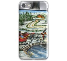 Over The River And Through The Woods, (on a tiny snow shovel) iPhone Case/Skin