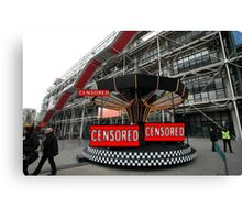 Corporate Censorship No.2 (Paris 2012) Canvas Print