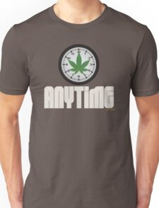 Cool And Funny Weed Time Stoner Clothing Design Unisex T-Shirt