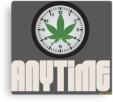 Cool And Funny Weed Time Stoner Clothing Design Canvas Print